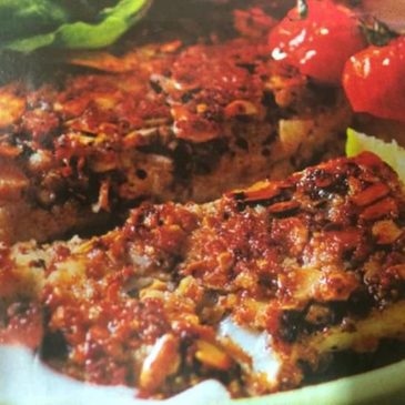 Almond Crusted hake fillets