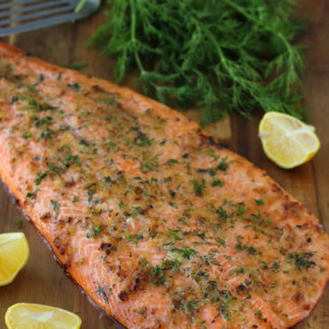 Garlic & Lemon baked trout fillets